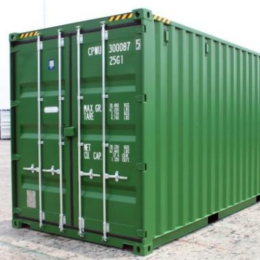green 20ft container