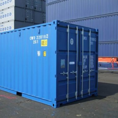 blue 20 ft container