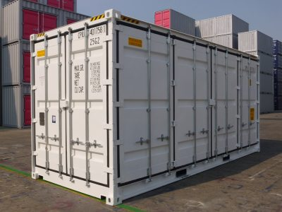 20 high cube side open sea container