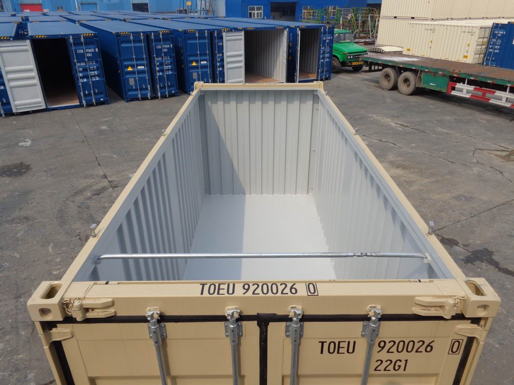 40 new open top general purpose sea container