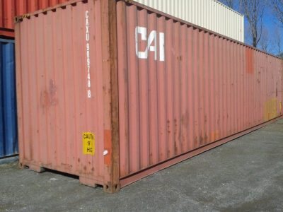 40 high cube Used Sea Container